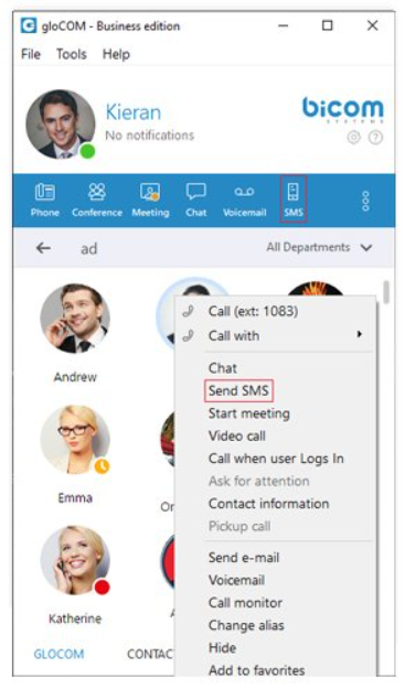This new feature will also send status updates as an SMS message,